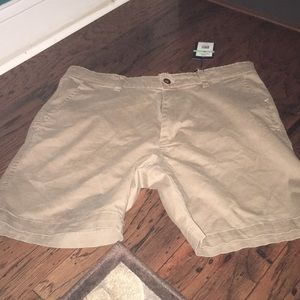Crown and Ivy khaki shorts new with tags